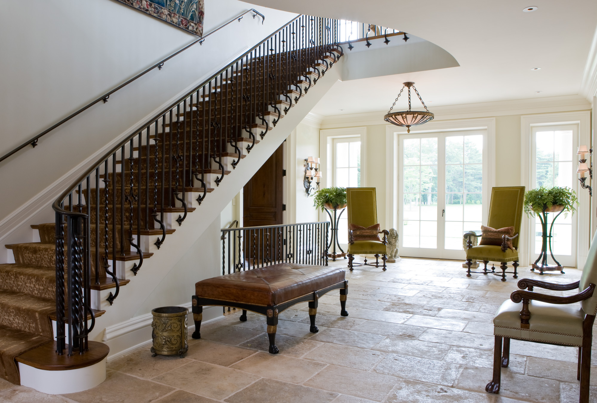 Weston georgian manor slc interiors for Georgian staircase design
