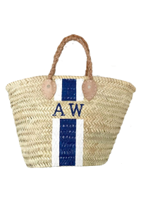 """Its in the bag"" with this chic beach tote from Palm Beach designer Mariella Vilar"