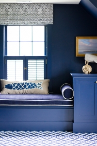 "Benjamin Moore #2063-10 ""Old Navy"" is a forever-favorite color! Check out this study we completed a few years ago...totally timeless"