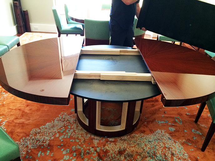 dakota jackson expandable custom dining room pedestal table