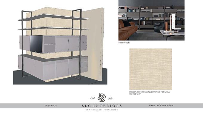 schematic design of custom cabinetry